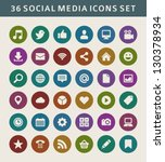 social media icons vector | Shutterstock .eps vector #130378934