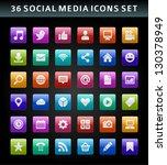 social media icons vector | Shutterstock .eps vector #130378949