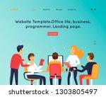 site template  teamwork ... | Shutterstock .eps vector #1303805497