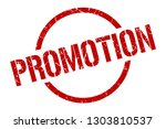 promotion red round stamp | Shutterstock .eps vector #1303810537