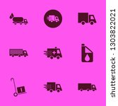 truck icon set with handcart ... | Shutterstock .eps vector #1303822021