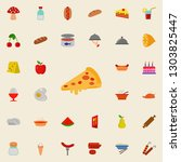 pizza icon. resturant icons... | Shutterstock . vector #1303825447
