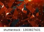 abstract polygonal 3d... | Shutterstock . vector #1303827631