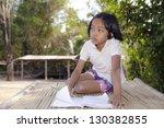 student little asian girl ... | Shutterstock . vector #130382855