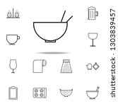 a bowl icon. kitchen icons... | Shutterstock . vector #1303839457
