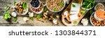 healthy plant vegan food ... | Shutterstock . vector #1303844371