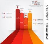minimal infographics design.... | Shutterstock .eps vector #130384577