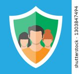 shield icon with user... | Shutterstock .eps vector #1303847494