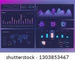 infographics on dark.... | Shutterstock .eps vector #1303853467