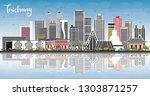 taichung taiwan city skyline... | Shutterstock .eps vector #1303871257