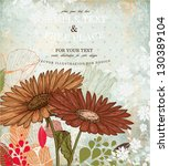 Floral Retro Ornament With...