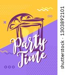 party time with cool design.... | Shutterstock .eps vector #1303892101
