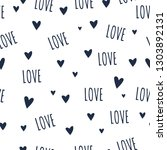 love lettering with hearts...   Shutterstock .eps vector #1303892131