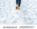 Winter Walk In Yellow Leather...