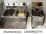 fryers for roasting potatoes in ... | Shutterstock . vector #1303906774