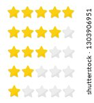 star rating zero up to five | Shutterstock .eps vector #1303906951