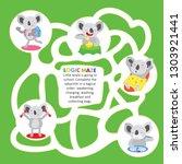 kids maze game puzzle koala... | Shutterstock .eps vector #1303921441