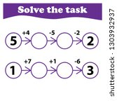 worksheet. mathematical puzzle... | Shutterstock .eps vector #1303932937