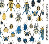 creative seamless pattern with... | Shutterstock . vector #1303933441