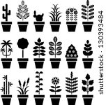 Set Of Vectorized Plants In A...