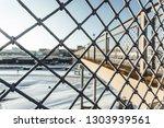 close up view of frozen metal... | Shutterstock . vector #1303939561