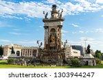 plaza of spain in barcelona ... | Shutterstock . vector #1303944247
