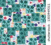 seamless pattern made up of...   Shutterstock .eps vector #1303949311