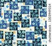 seamless pattern made up of...   Shutterstock .eps vector #1303949314