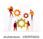 teamwork   modern flat design... | Shutterstock .eps vector #1303953631