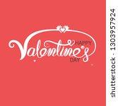 red heart   hand embrace... | Shutterstock .eps vector #1303957924
