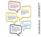 infographic 5 step presentation ...   Shutterstock .eps vector #1303958377