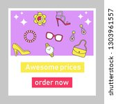 accessories prices social media ... | Shutterstock .eps vector #1303961557