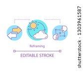cognitive reframing concept... | Shutterstock .eps vector #1303961587