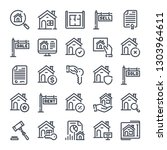 real estate bold line icon set. ...   Shutterstock .eps vector #1303964611