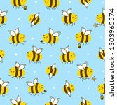 seamless pattern with cute... | Shutterstock .eps vector #1303965574