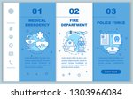rescue services app page screen ... | Shutterstock .eps vector #1303966084