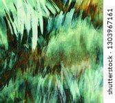 abstract green tropical... | Shutterstock .eps vector #1303967161
