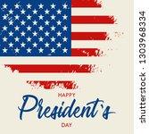 happy presidents day vector... | Shutterstock .eps vector #1303968334