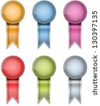 tag labels made of leather.... | Shutterstock .eps vector #130397135