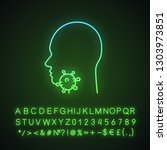 sore throat neon light icon....   Shutterstock .eps vector #1303973851