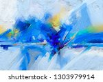 abstract colorful oil  acrylic... | Shutterstock . vector #1303979914