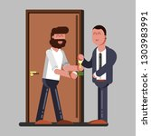 man rent accommodation.  ...   Shutterstock . vector #1303983991