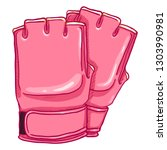 vector cartoon pink fighting...   Shutterstock .eps vector #1303990981
