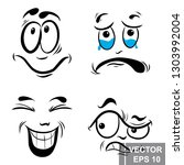 smile. cartoon style. bright.... | Shutterstock .eps vector #1303992004