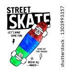 skate board vector... | Shutterstock .eps vector #1303993357