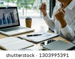 concept of young business... | Shutterstock . vector #1303995391