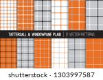 burnt orange  gray  black and... | Shutterstock .eps vector #1303997587