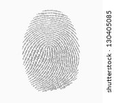 fingerprint made with binary... | Shutterstock .eps vector #130405085