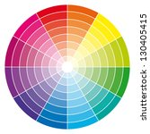 Color Wheel. Vector...