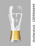 tall beer glass with lager beer ... | Shutterstock .eps vector #1304066644